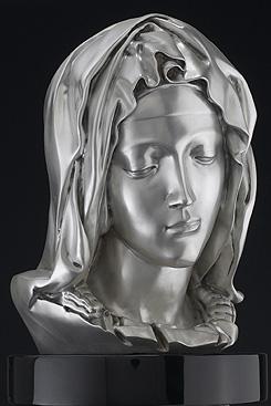 pieta silver bust